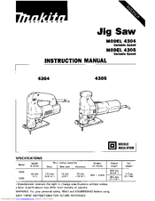 Makita 4304 Manuals