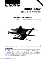 Makita ARBOR 2711 Manuals