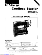 Makita T221D Manuals