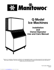 Manitowoc Q Manuals