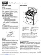 Maytag MGT8655XW Manuals