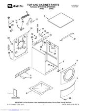 Maytag MFW9700SQ0 Manuals