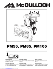 Mcculloch PM85 Manuals