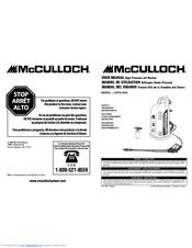 Mcculloch 7096-140A02 Manuals