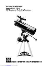 Meade 114ST EQ-D Manuals