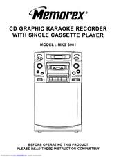 Memorex MKS 3001 Manuals