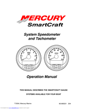 Mercury SmartCraft System Tachometer Manuals