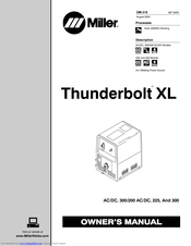 Miller Electric Thunderbolt XL Manuals