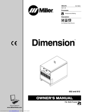 Miller Electric Dimension 812 Manuals