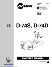 Miller Electric D-74D Manuals