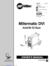 Miller Electric Millermatic DVI Manuals
