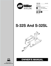 Miller Electric S-32S Manuals