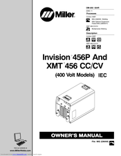 Miller Electric INVISION Invision 456P Manuals
