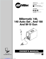 Miller Electric Millermatic 180 Manuals