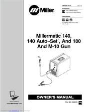Miller Electric Millermatic 140 Auto−Set Manuals