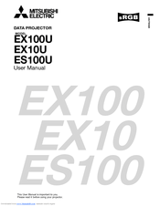 Mitsubishi Electric EX100U Manuals