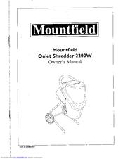 Mountfield Quiet Shredder 2200W Manuals