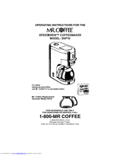 Mr. Coffee DSP10 Manuals