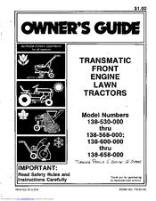 Mtd 600 Series Manuals