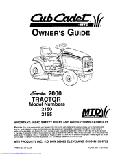 Cub Cadet 2155 Manuals