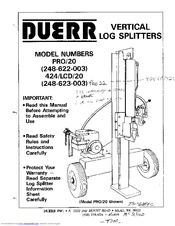 Duerr PRO/20 Manuals