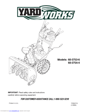 Yard Works 60-3754-4 Manuals