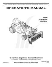 Mtd OEM-190-032 Manuals