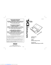 Nintendo DS Lite Manuals