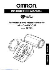 Omron INTELLISENSE BP755 Manuals