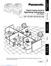 Panasonic DP-1510P Manuals