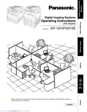 Panasonic WORKIO DP-1810 Manuals