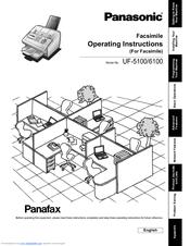 Panasonic Panafax UF-6100 Manuals