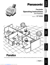 Panasonic Panafax UF-6000 Manuals