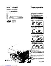 Panasonic DVD-XV10 Manuals
