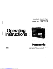 Panasonic RQ-V180 Manuals