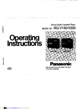 Panasonic RQ-V200 Manuals