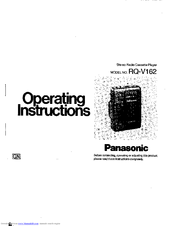 Panasonic RQ-V162 Manuals