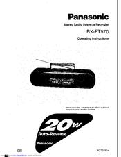 Panasonic RX-FT570 Manuals