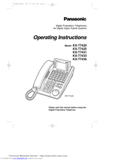 Panasonic KX-T7420 Manuals