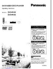 Panasonic DVD-RV40 Manuals