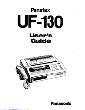 Panasonic Panafax UF-130 Manuals