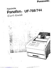 Panasonic Panafax UF-788 Manuals