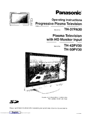 Panasonic TH-50PV30 Manuals