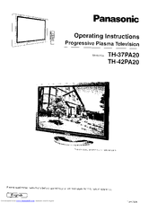 Panasonic Viera TH-37PA20 Manuals