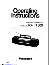 Panasonic RX-FT500 Manuals
