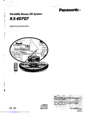 Panasonic rx-ed707 Cobra Manuals