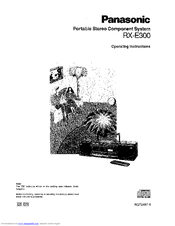 Panasonic RX-E300 Manuals