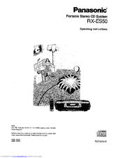 Panasonic RX-ES50 Manuals