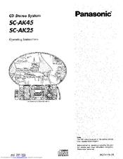 Panasonic SA-AK45 Manuals