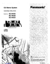 Panasonic SB-AK44 Manuals